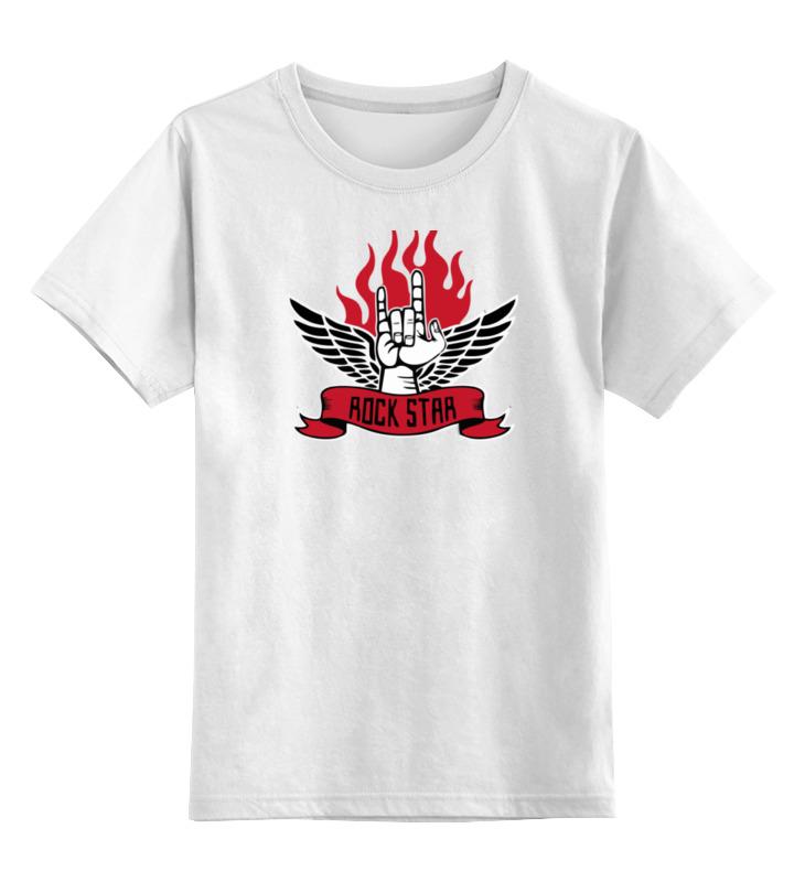 Детская футболка классическая унисекс Printio Rock star (рок звезда) все цены