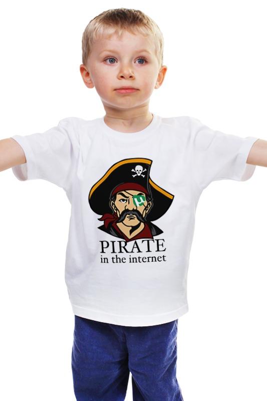 Детская футболка классическая унисекс Printio Интернет пират
