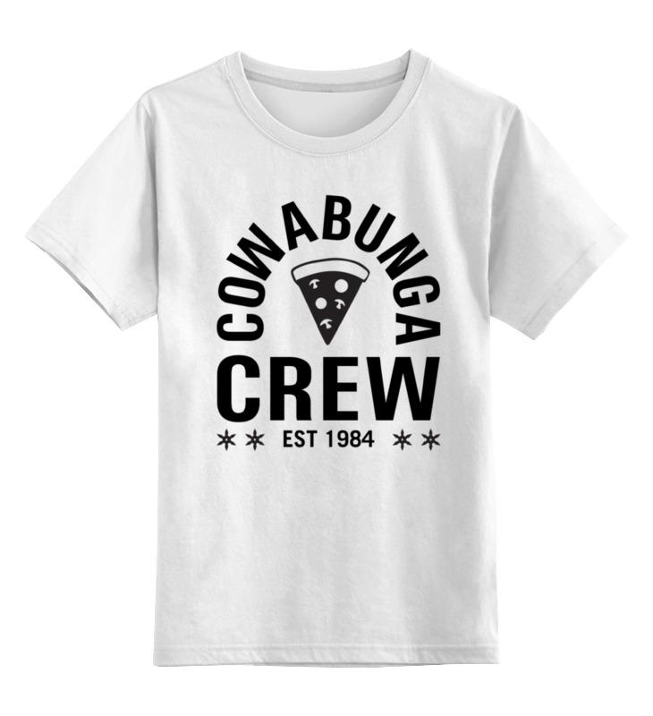 Детская футболка классическая унисекс Printio Кавабанга черепашки sbart upf50 rashguard 2 bodyboard 1006