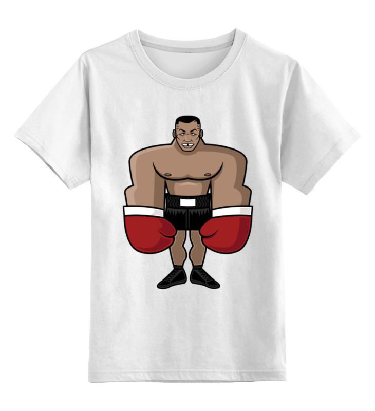 Детская футболка классическая унисекс Printio Майк тайсон (mike tyson) недорго, оригинальная цена
