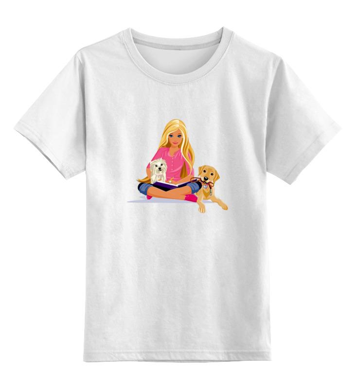 Детская футболка классическая унисекс Printio Девушка с собачками детская футболка классическая унисекс printio девушка с завязанными глазами