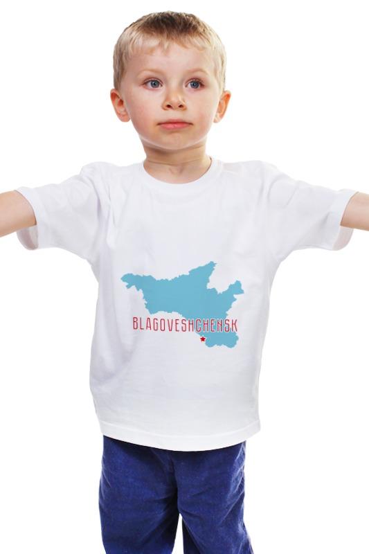 Детская футболка классическая унисекс Printio Амурская область. благовещенск нож амурской области по интернету