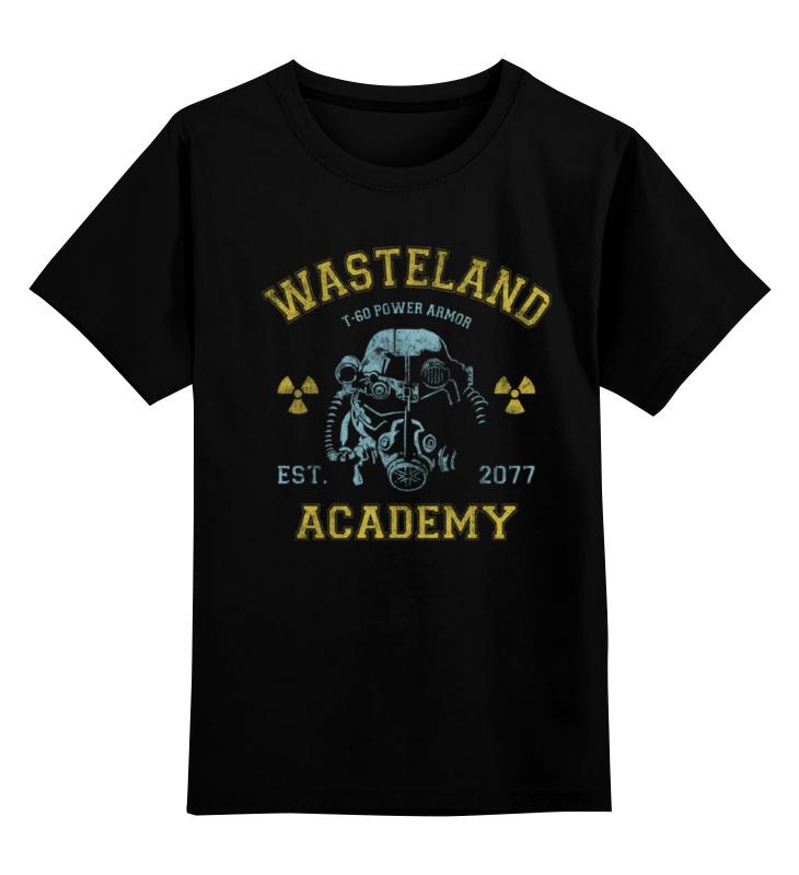 Детская футболка классическая унисекс Printio Fallout. wasteland academy футболка классическая printio fallout фэллаут
