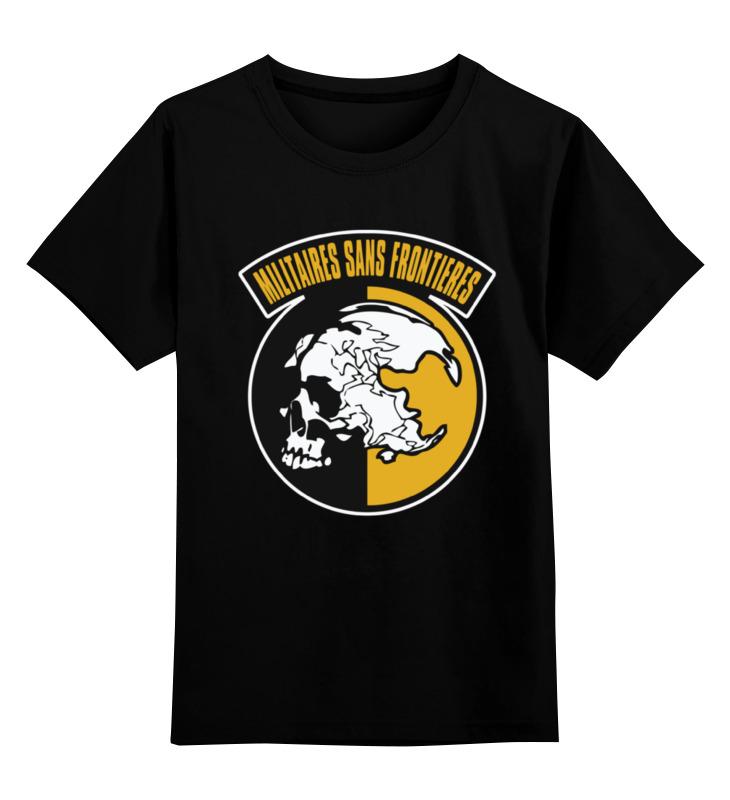 Детская футболка классическая унисекс Printio Militaires sans frontieres (metal gear solid) кружка printio солдаты без границ