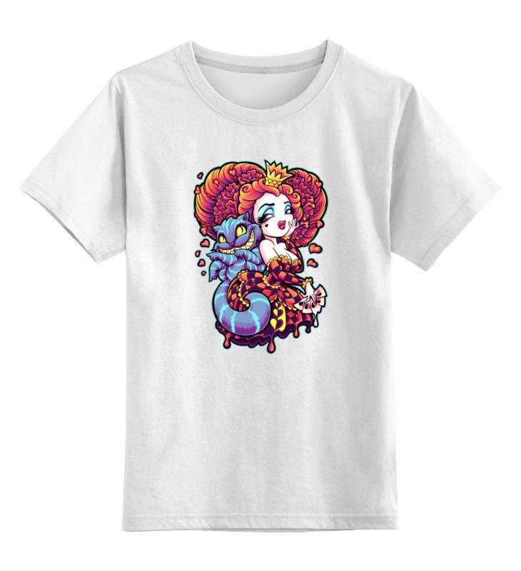 Детская футболка классическая унисекс Printio Алиса с котом детская футболка классическая унисекс printio алиса