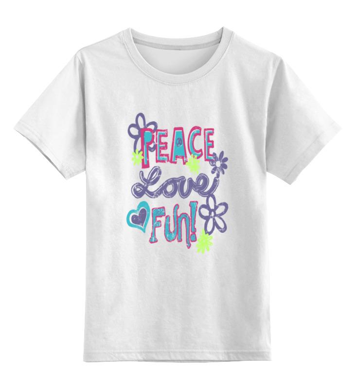 Детская футболка классическая унисекс Printio Peace fun