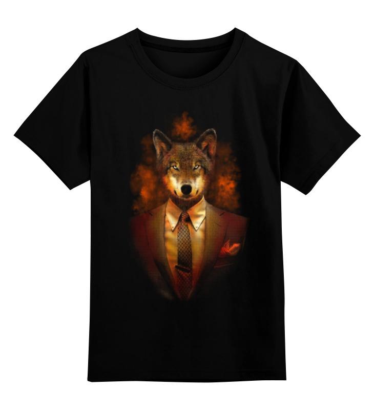 Детская футболка классическая унисекс Printio Мистер волк