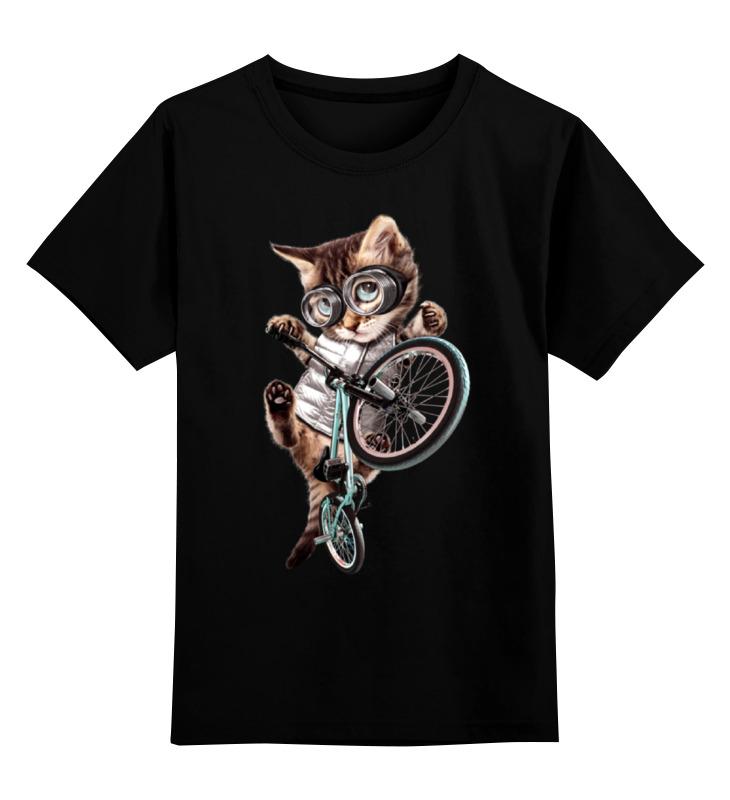 Детская футболка классическая унисекс Printio Кот bmx