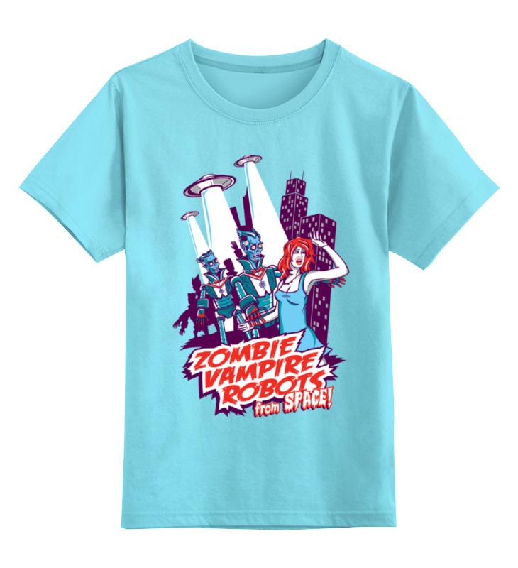Детская футболка классическая унисекс Printio Космические захватчики (зомби, вампиры, роботы) oldos комбинезон трансформер роботы