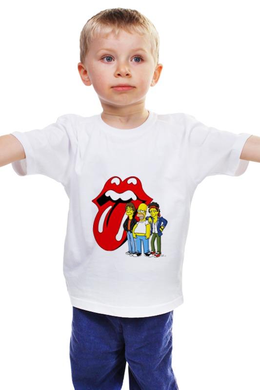 Детская футболка классическая унисекс Printio Гомер и rolling stones бусы из янтаря солнечные дни