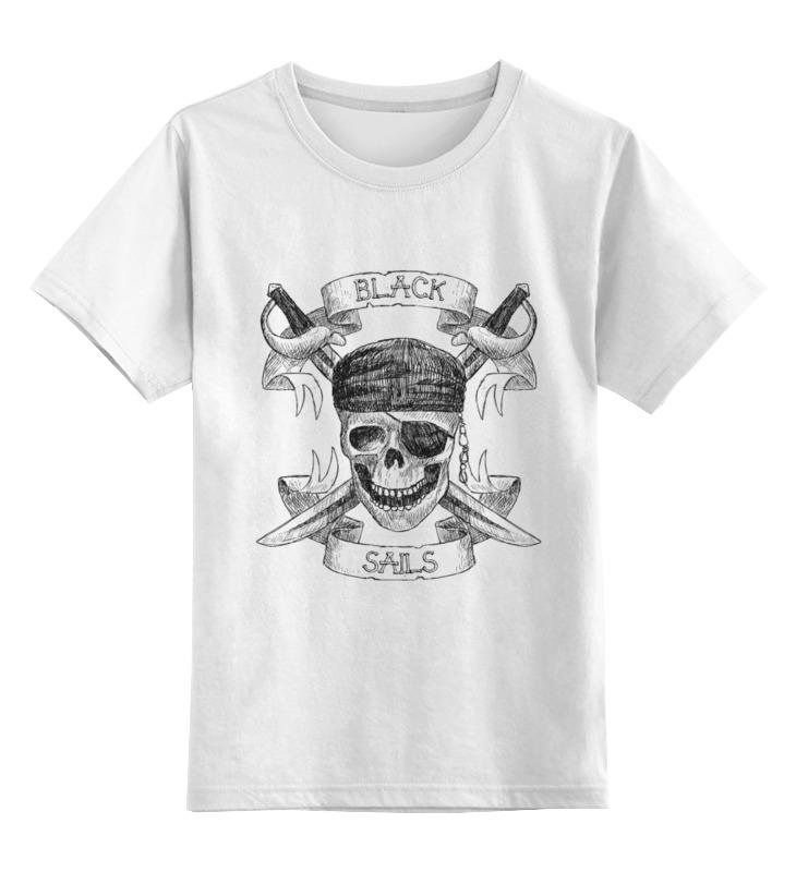 Детская футболка классическая унисекс Printio Чёрные паруса