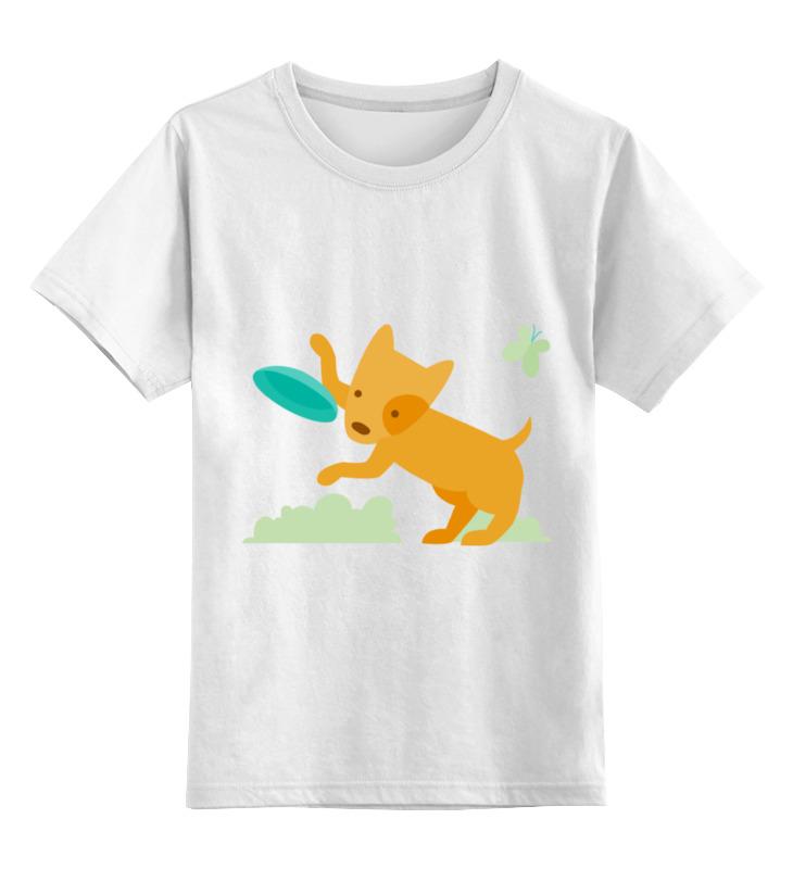 Детская футболка классическая унисекс Printio Весёлый щенок