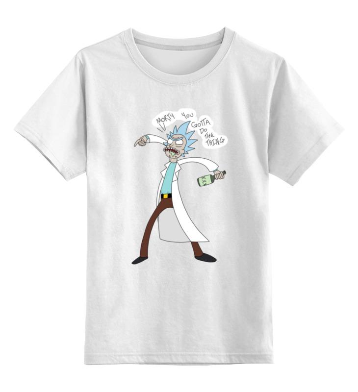 Детская футболка классическая унисекс Printio Rick & morty желай делай ежедневник