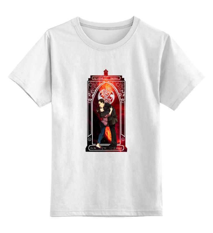 Детская футболка классическая унисекс Printio Девятый доктор и сьюзан (ninth doctor and susan)