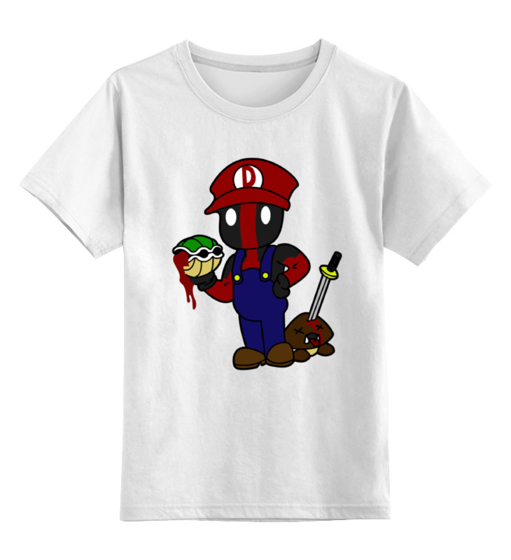 Детская футболка классическая унисекс Printio Марио дэдпул детская футболка классическая унисекс printio винни дэдпул