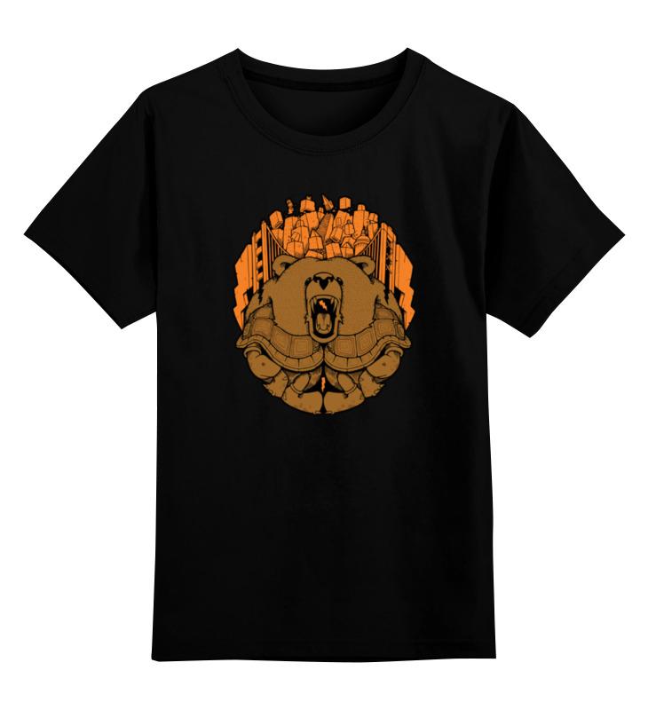 Детская футболка классическая унисекс Printio Bear city / медведь лонгслив printio bear beer медведь и мед