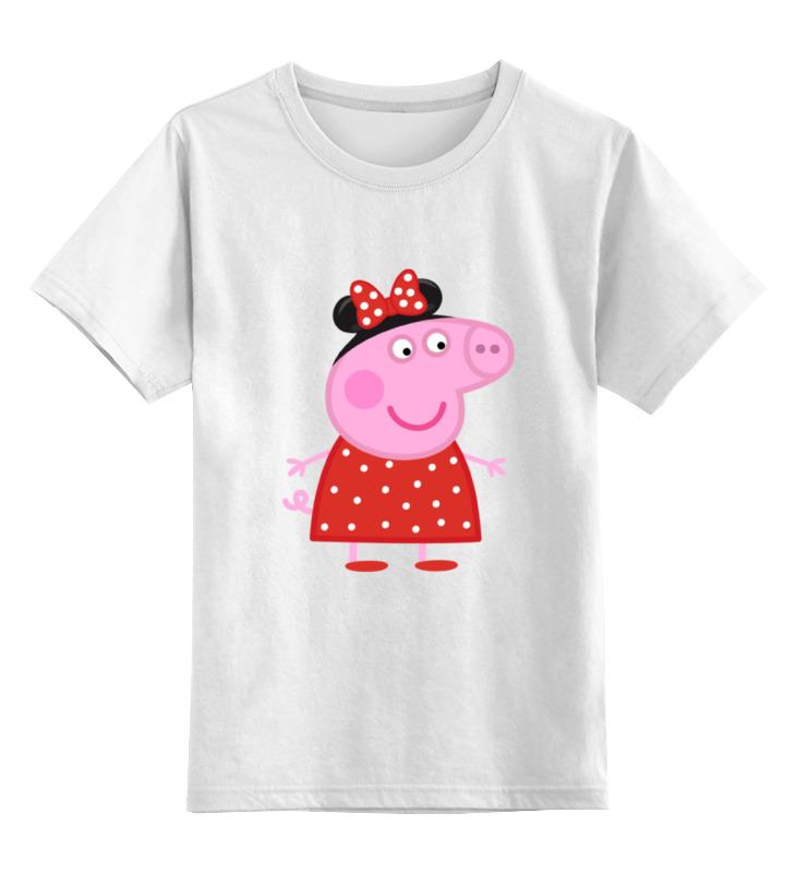 Детская футболка классическая унисекс Printio Peppa pig peppa pig свинка пепа плюшевые игрушки розовая свинка сестра 26см