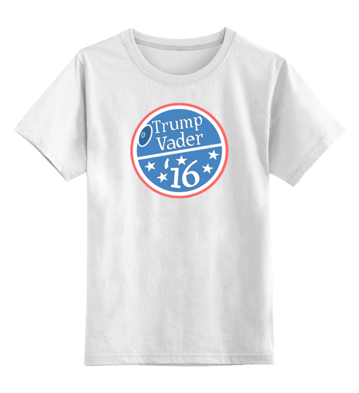 Детская футболка классическая унисекс Printio Трамп вейдер цена и фото