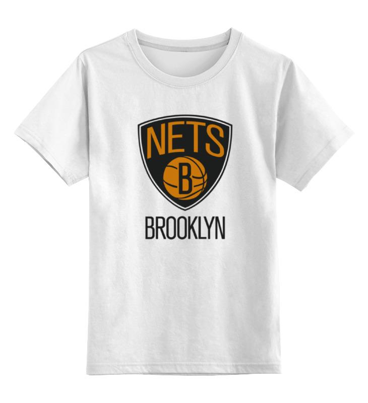 Детская футболка классическая унисекс Printio Brooklyn nets brooklyn nets nba property of hoodie purse
