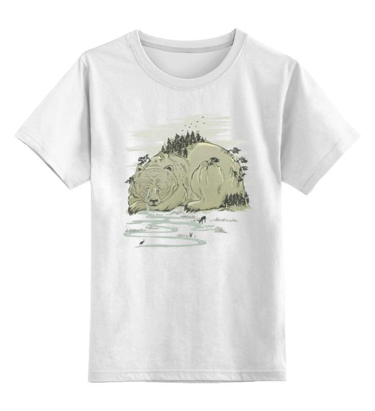 Детская футболка классическая унисекс Printio Медвежья гора цена и фото
