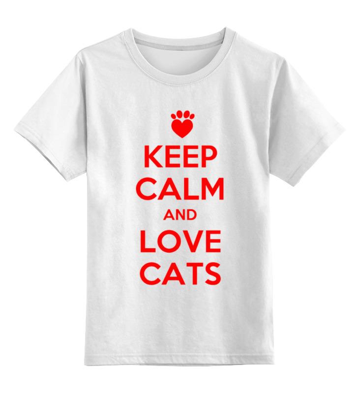 Детская футболка классическая унисекс Printio Люблю котов цена и фото