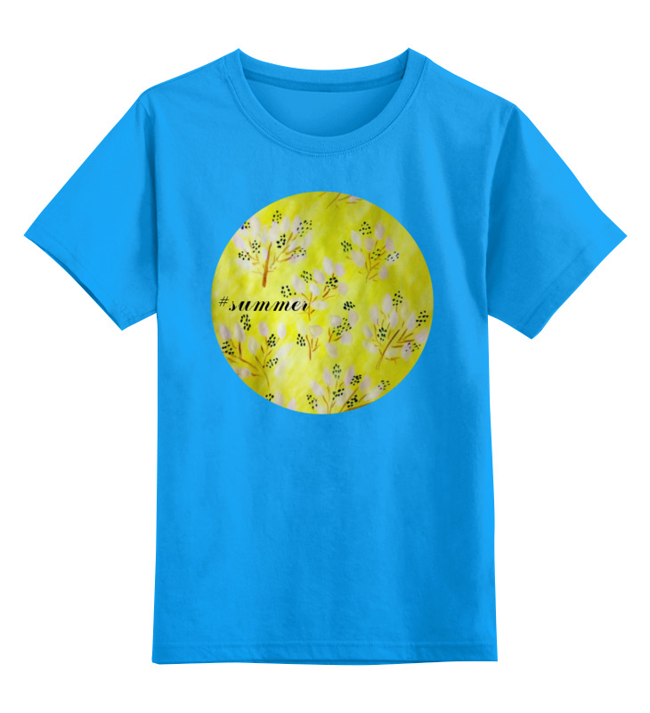 Детская футболка классическая унисекс Printio Солнечное лето цена