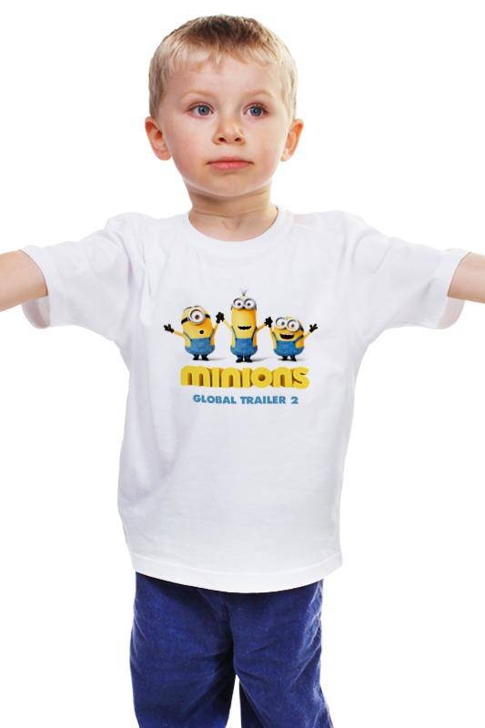 Детская футболка классическая унисекс Printio Minions  global trailer 2 футболка классическая printio 62 2% в саратове