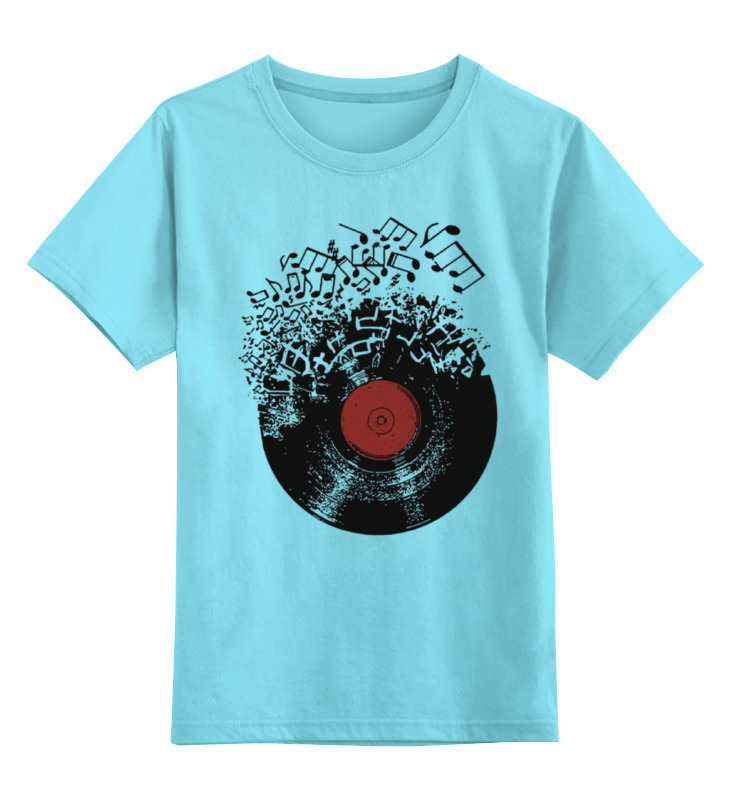 Детская футболка классическая унисекс Printio Виниловая пластинка
