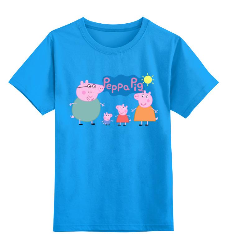 Детская футболка классическая унисекс Printio Свинка пеппа мягкая игрушка свинка росмэн свинка пеппа джордж морячок плюш текстиль пластик розовый 25 см