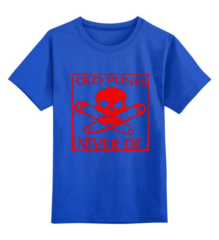 Детская футболка классическая унисекс Printio Old punks never die недорго, оригинальная цена