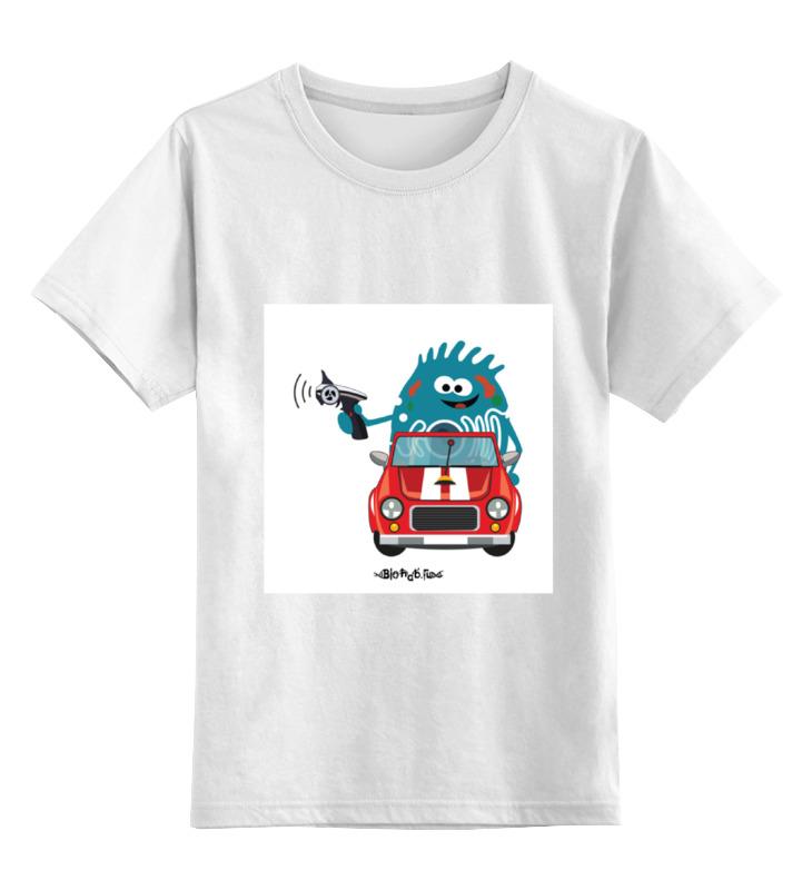 Детская футболка классическая унисекс Printio Переходим на электромобили электромобили