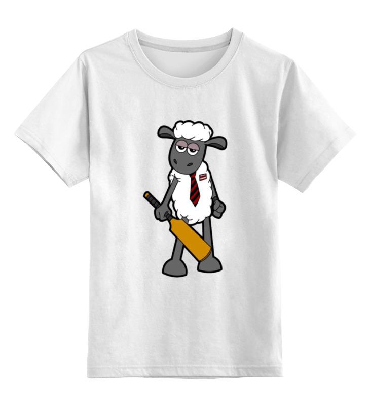 Детская футболка классическая унисекс Printio Модная овечка майка классическая printio модная овечка