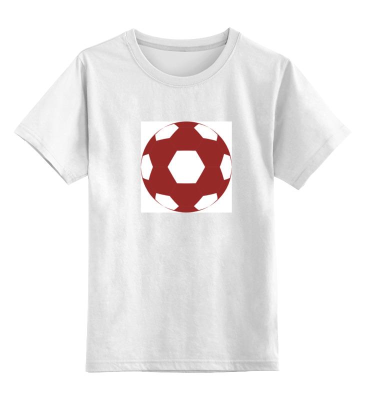 Детская футболка классическая унисекс Printio Красный мяч