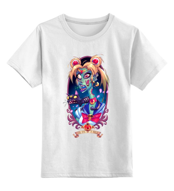 Детская футболка классическая унисекс Printio Девушка с кошкой(монстры) детская футболка классическая унисекс printio девушка