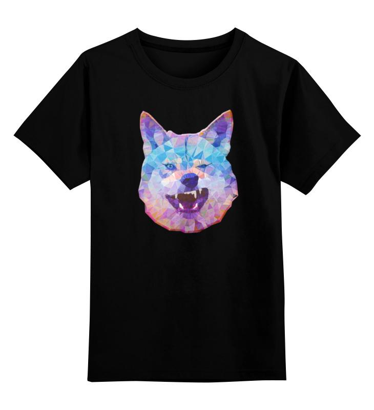 Детская футболка классическая унисекс Printio Абстрактный волк цена