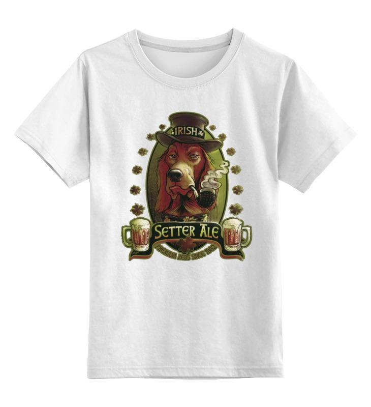 Детская футболка классическая унисекс Printio Ирландский красный эль ирландский красно белый сеттер украина