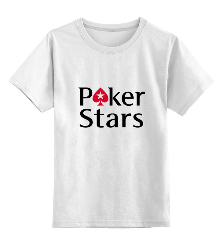 Детская футболка классическая унисекс Printio Pokerstars цена