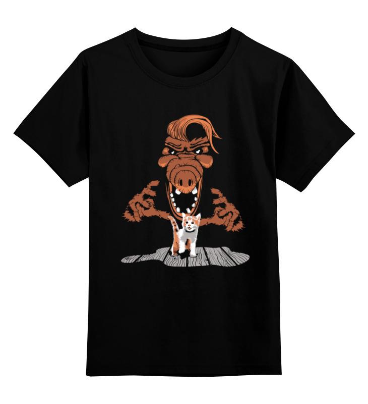 Детская футболка классическая унисекс Printio Альф и котенок профессиональная пластиковая форма котенок с бабочкой
