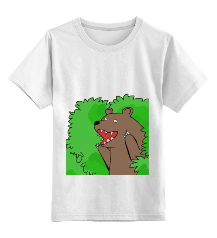 Детская футболка классическая унисекс Printio Медведь из кустов андрей кустов