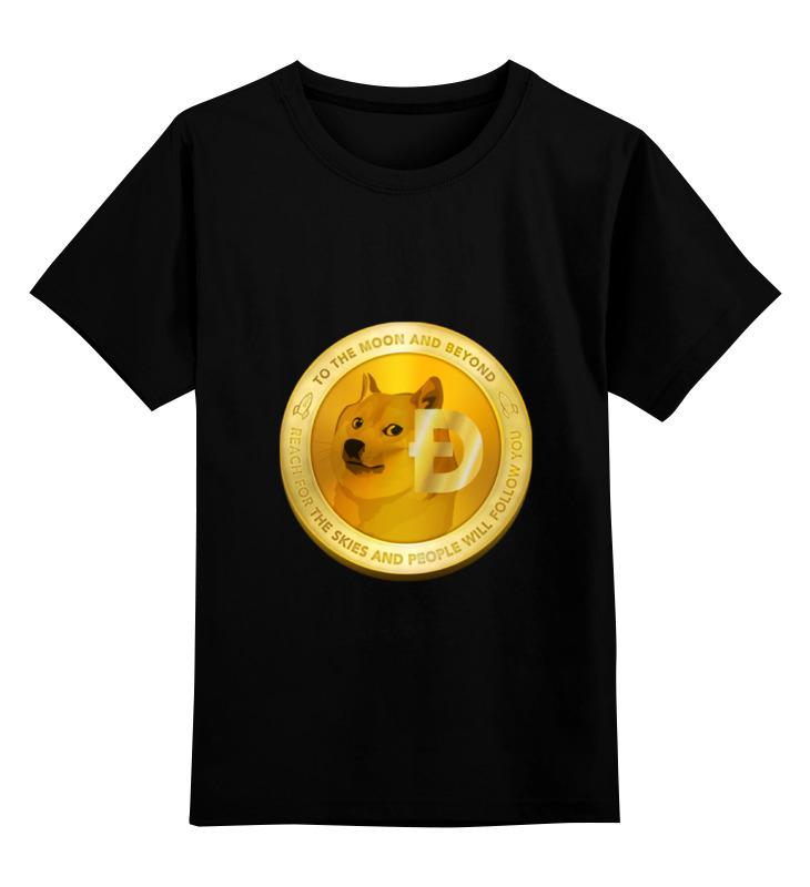 Детская футболка классическая унисекс Printio Dogecoin