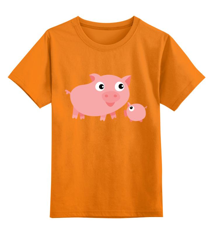 Детская футболка классическая унисекс Printio Свинья с поросёнком детская футболка классическая унисекс printio свинья пират