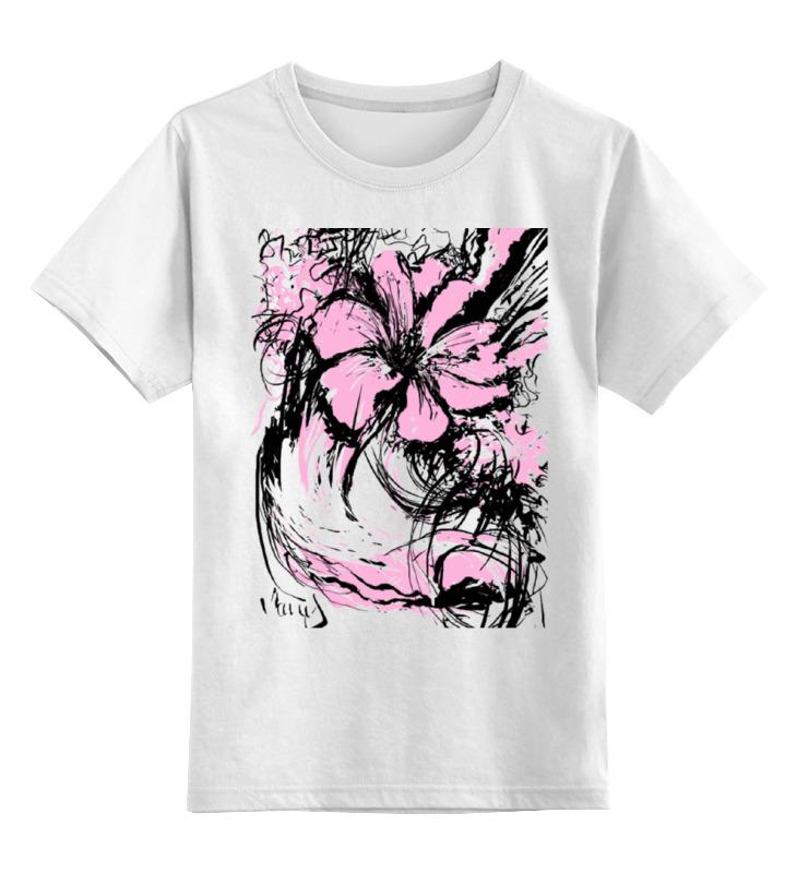 Детская футболка классическая унисекс Printio Flowers футболка детская bodo цвет белый 4 86u размер 86 92
