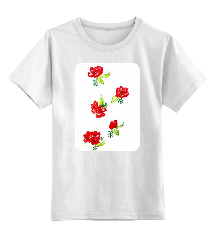 Printio Детская красные цветы цена и фото
