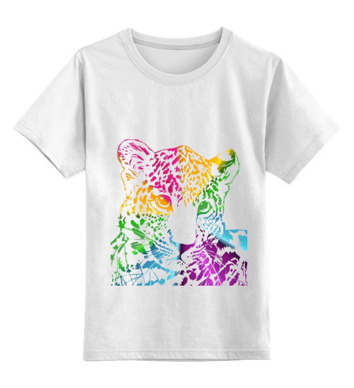 Детская футболка классическая унисекс Printio Радужный леопард shauna леопард коричневый