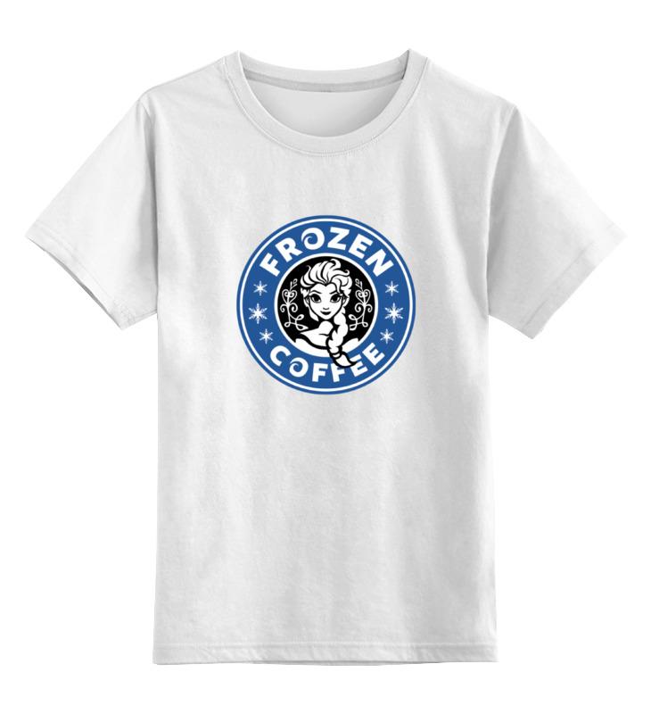 Детская футболка классическая унисекс Printio Frozen coffee футболка рингер printio belles book cafe starbucks