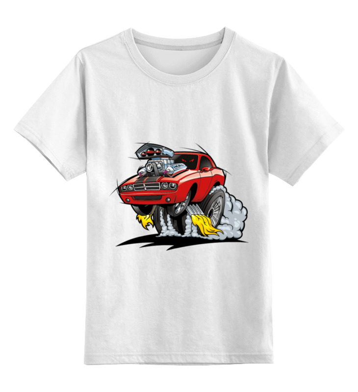 футболка детская красная машина цвет красный 65160072 размер 164 Детская футболка классическая унисекс Printio Гоночный кар