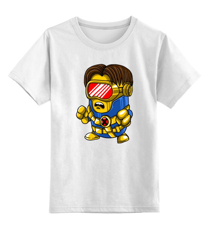Детская футболка классическая унисекс Printio Миньон (люди икс)