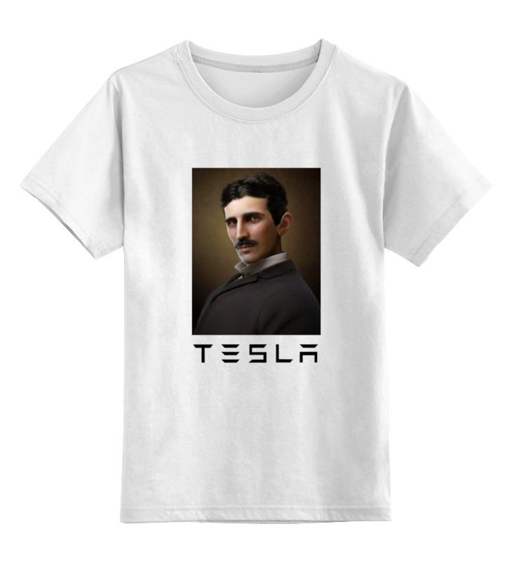 Детская футболка классическая унисекс Printio Никола тесла цена и фото