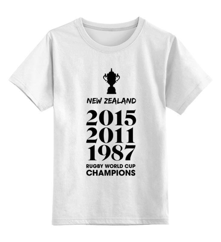 Детская футболка классическая унисекс Printio Чемпионы регби (новая зеландия) лонгслив printio чемпионы регби новая зеландия