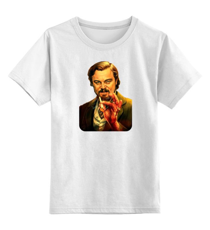 Детская футболка классическая унисекс Printio Леонардо дикаприо (джанго освобожденный) футболка для беременных printio леонардо дикаприо джанго освобожденный